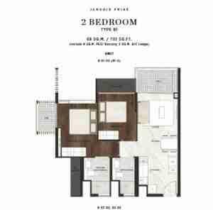 Jervois-Prive-singapore-floor-plan-2-bedrooms